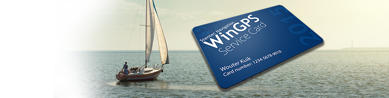 The WinGPS Service Card gives you up-to-date navigation on board in 2015