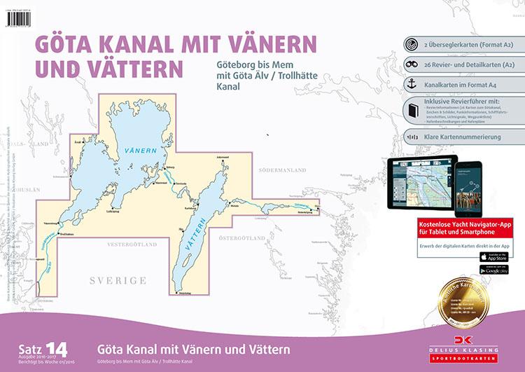 DK14 Götakanal met Vänern en Vättern