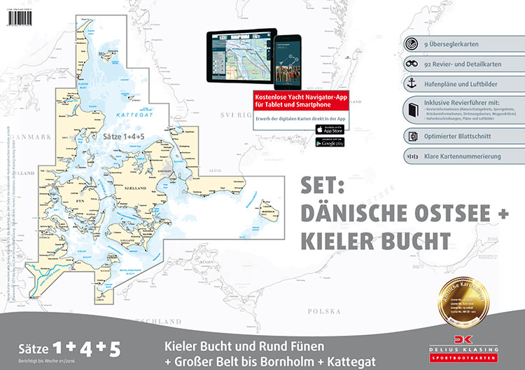 DK1, 4 & 5 Koffer Deense Oostzee & Kieler Bocht