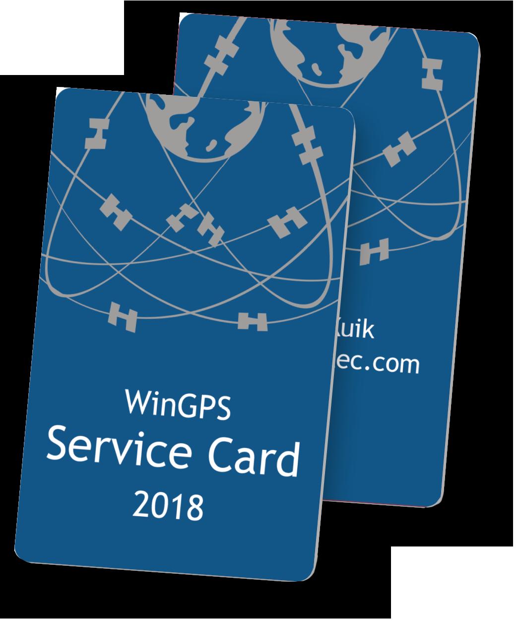 WinGPS Service Card 2018