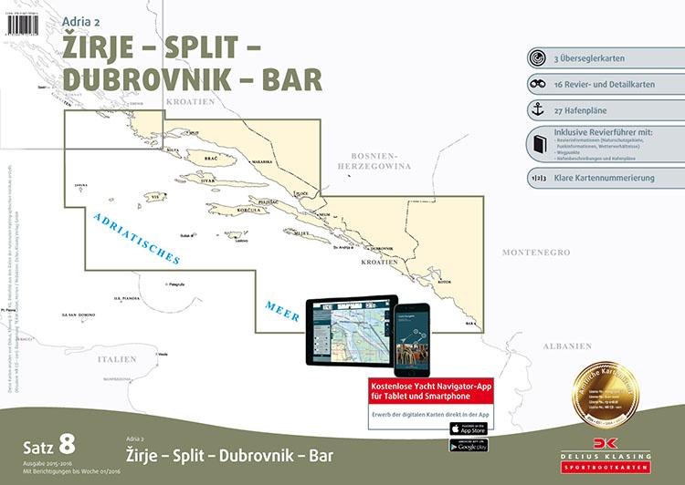 DK8 Zirje - Split - Dubrovnik - Bar