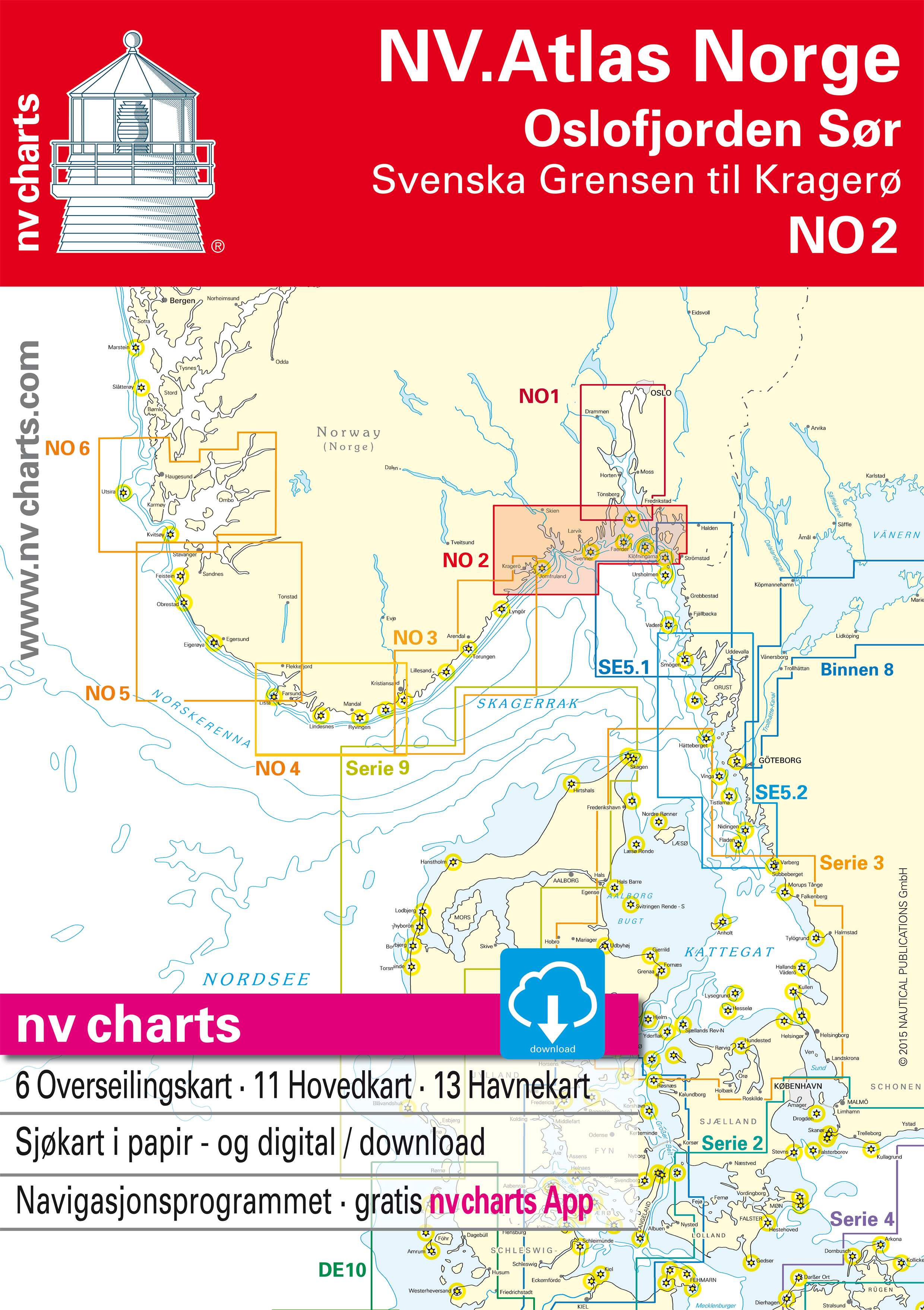 NV NO2: Norway Oslofjord South - Svenska Grensen to Kragerø